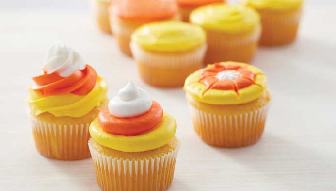 Kids Candy Corn Cupcakes