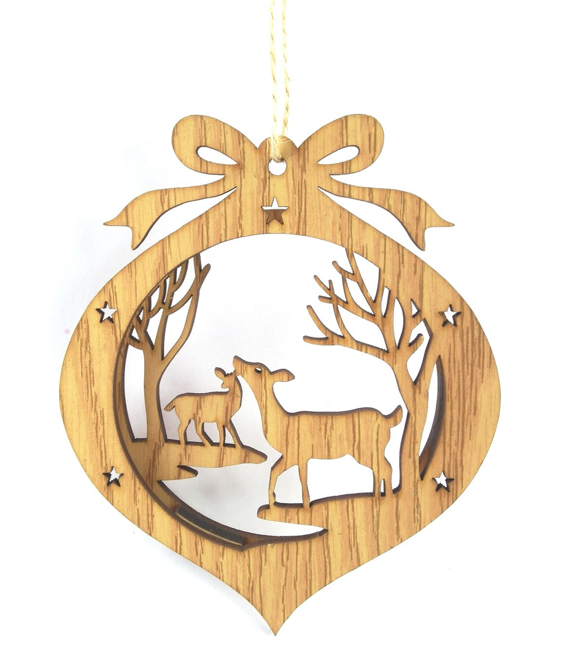 Maker\u0027s Holiday Die Cut Reindeer Ornament