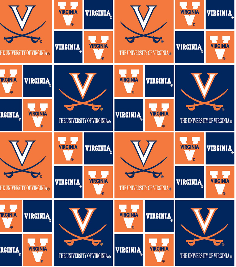University of Virginia Cavaliers Cotton Fabric 44\u0022-Block