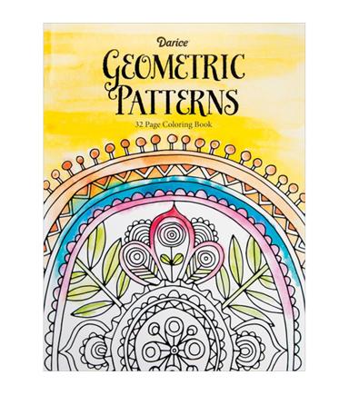 Adult Coloring Book Darice Geometric Patterns
