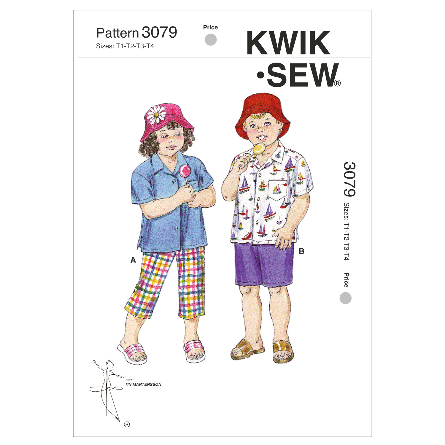 Kwik Sew Pattern K3079 Toddler Casual Outfits-Size T1-T4