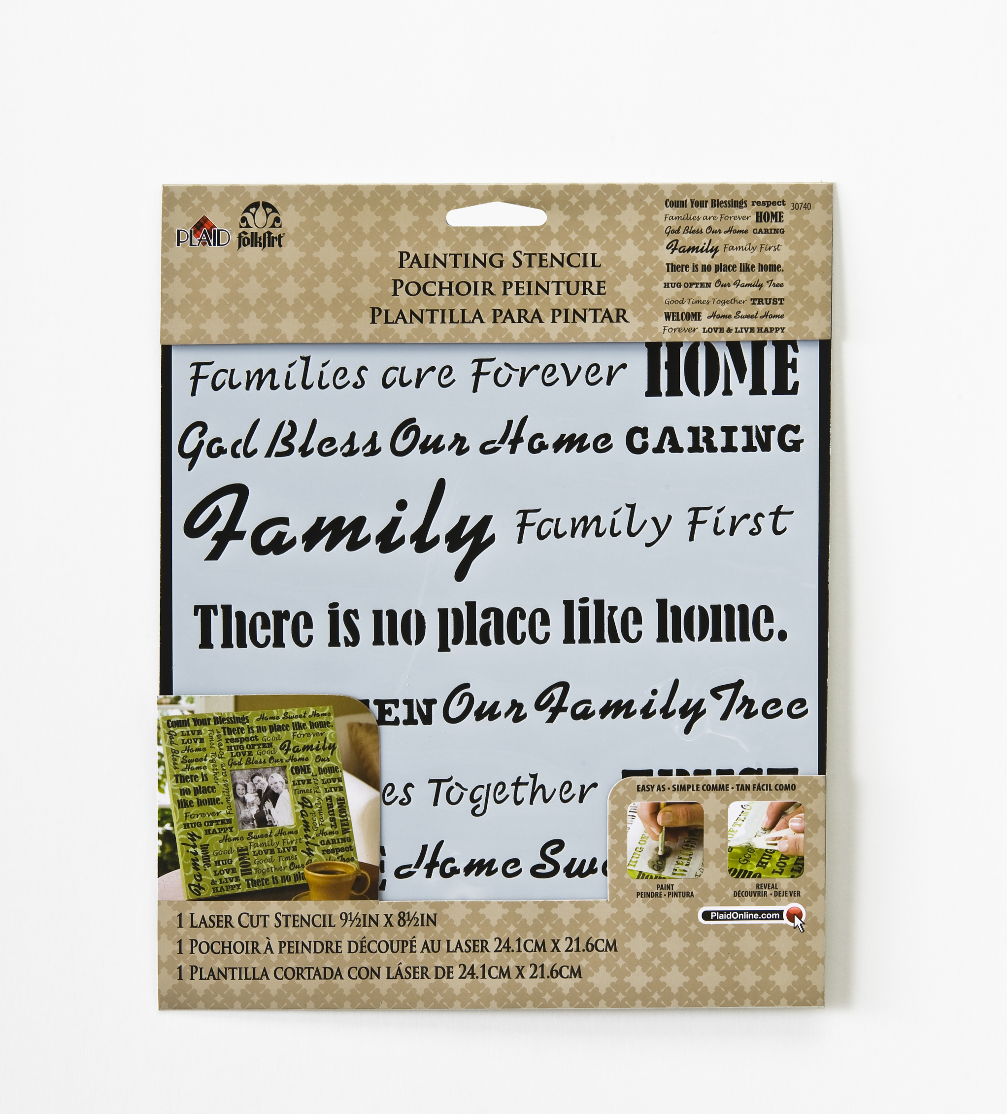 FolkArt® Painting Stencils - Laser - Words/Phrases - Family