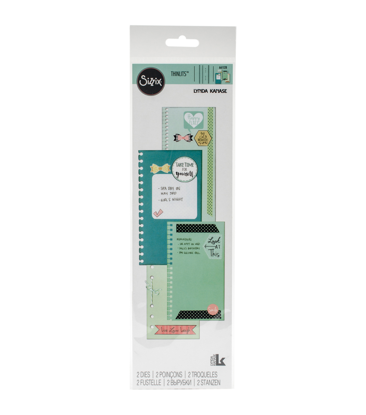 Sizzix® Thinlits™ 2 Pack Dies-Planner Page Bindables
