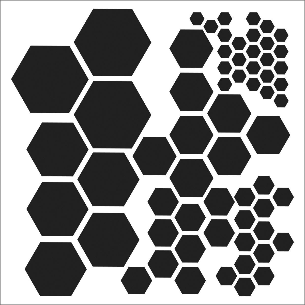 "Crafter's Workshop Template Hexagons 6"" x 6"""
