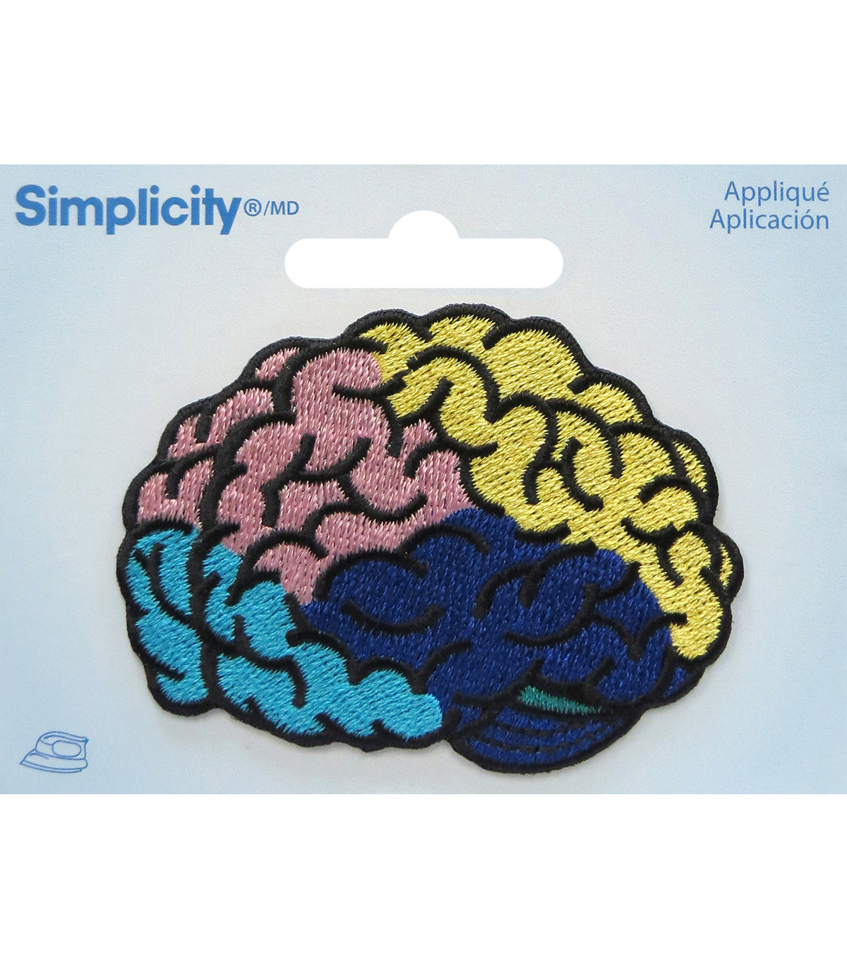 Simplicity® Embroidered Iron-On Applique-Brain
