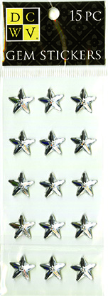 DCWV Clear Gem Stickers-Stars