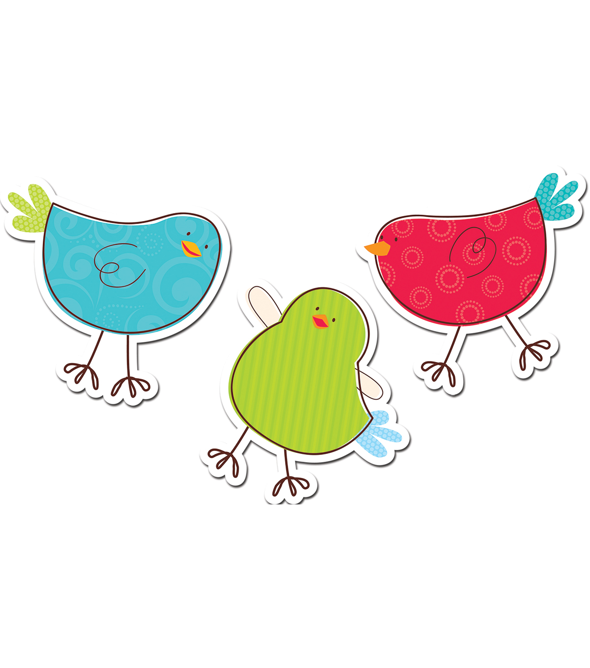 Tweeting Birds 6\u0022 Designer Cut-Outs