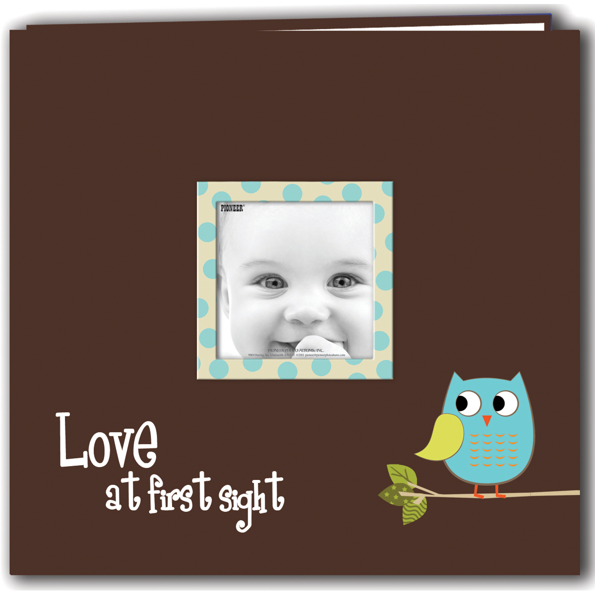Pioneer Baby Owl Printed Design Postbound Album