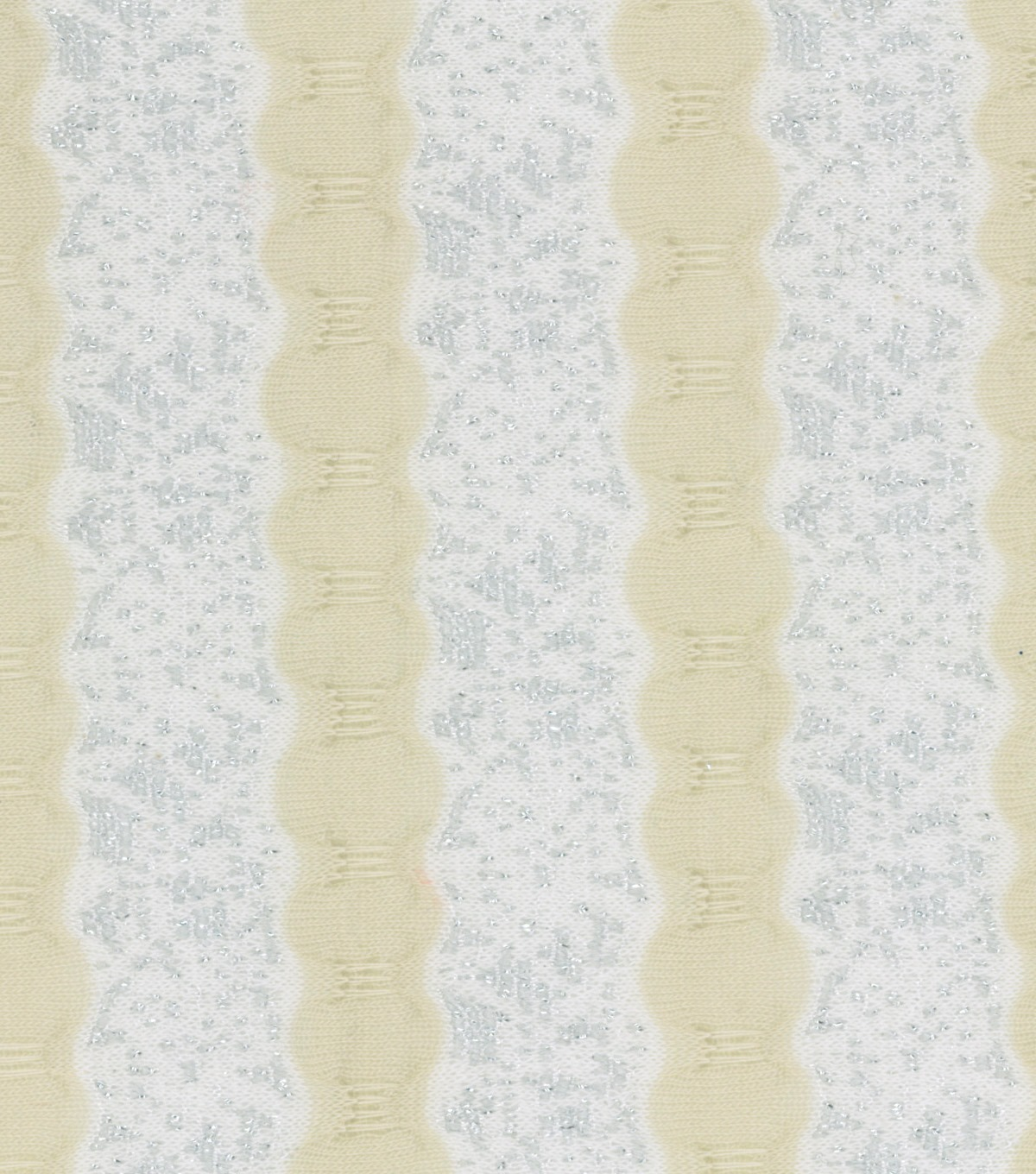 Pastel Perfection Collection Ric Rac Cream Silver Lace Stripe Fabric