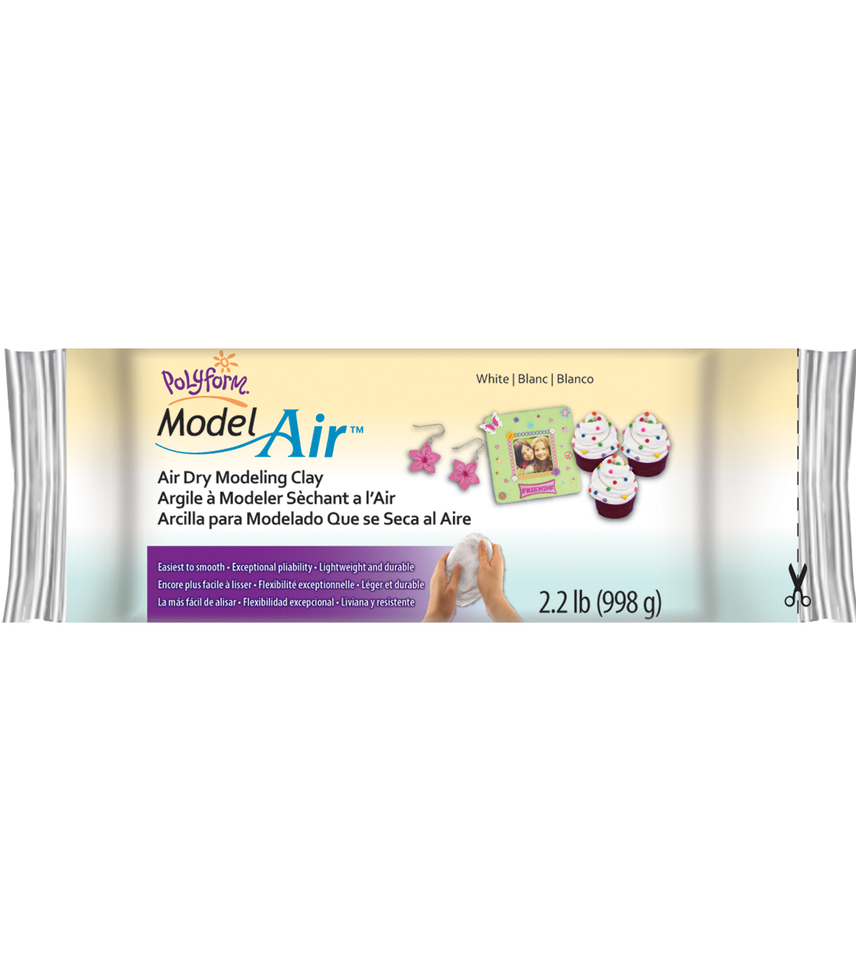 Model Air 2.2 Pounds/Pkg-White