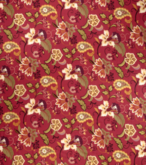 "Home Decor 8""x8"" Fabric Swatch-SMC Designs Fogarty / Garnet"