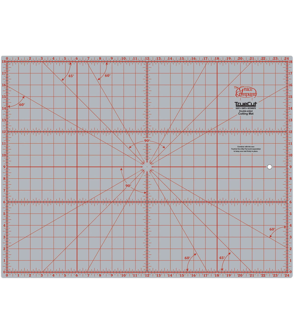 TrueCut Double Sided Rotary Cutting Mat 18\u0022 X 24\u0022