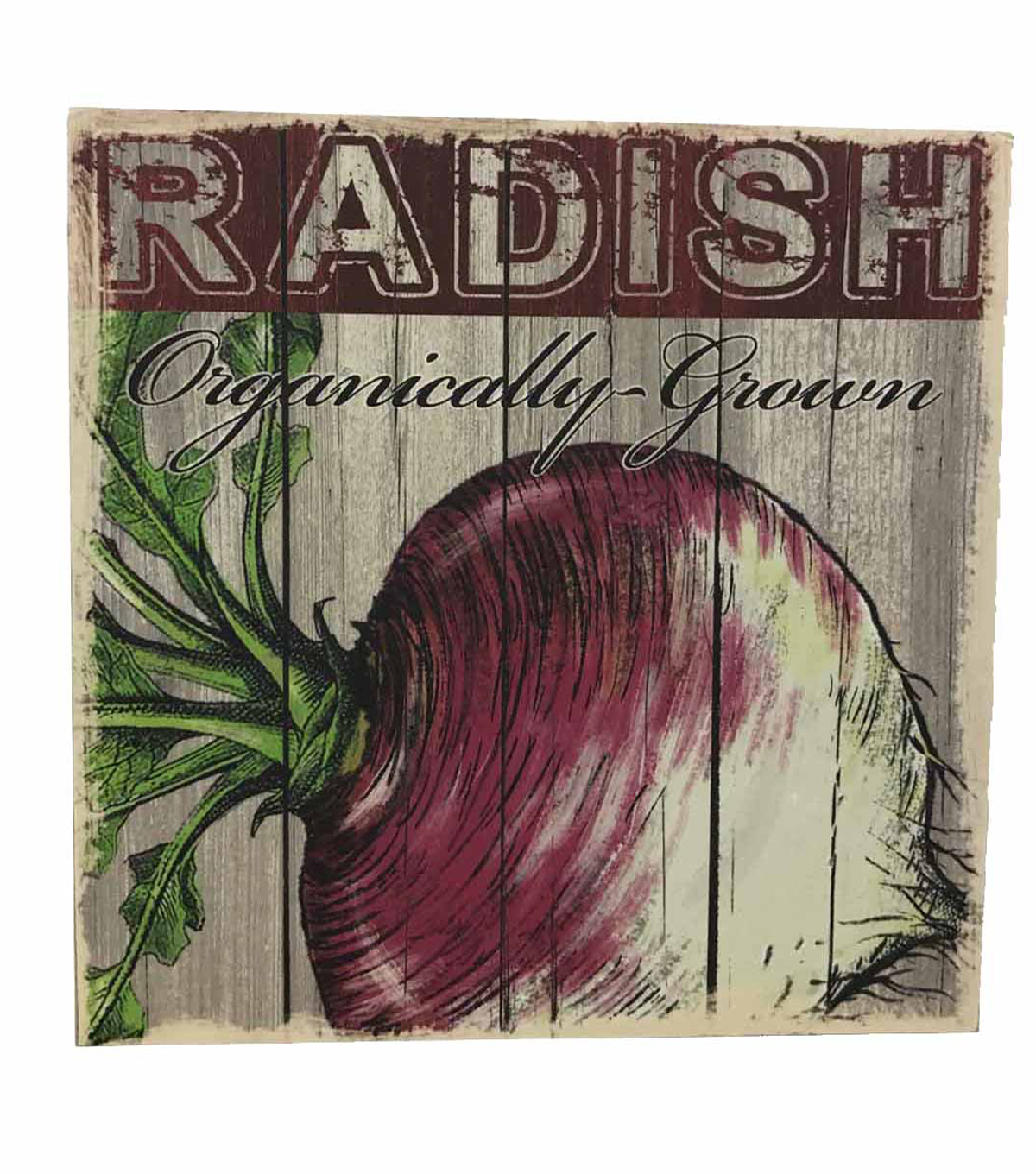 Farm Fresh Wood Box Sign-Radish