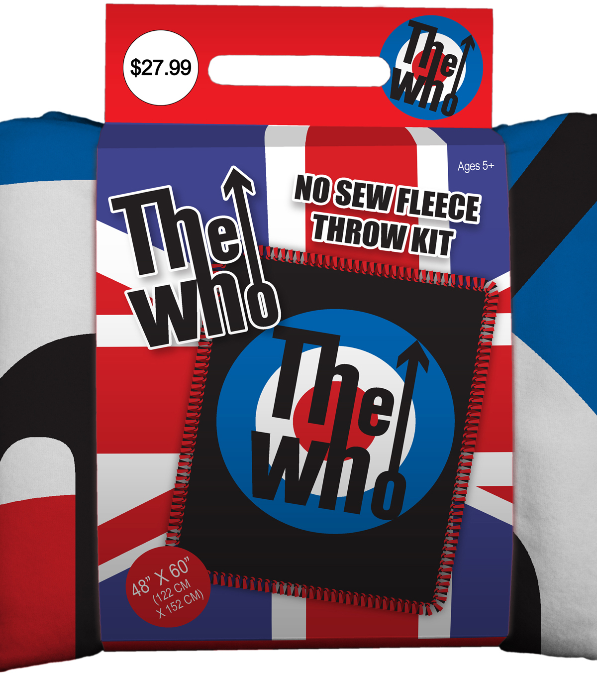 "No Sew Fleece Throw 48""-The Who"
