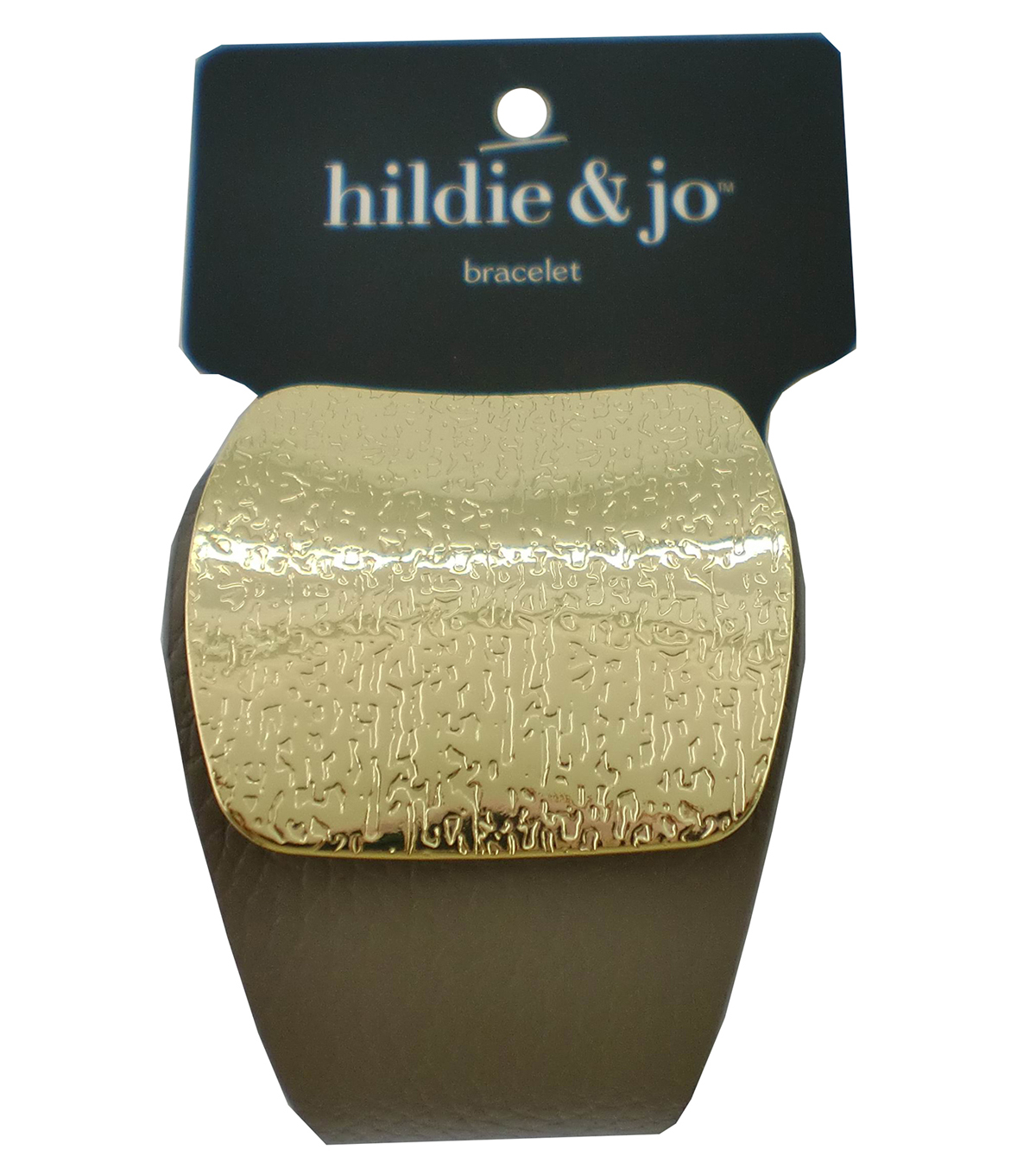 hildie & jo™ Bracelet with Gold Textured Cuff-Gray
