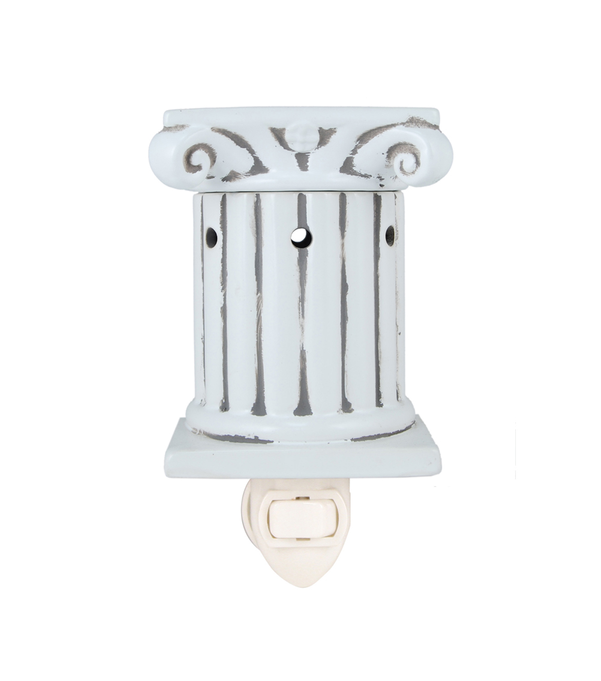 Hudson 43™ Candle & Light Collection White Column Plug In