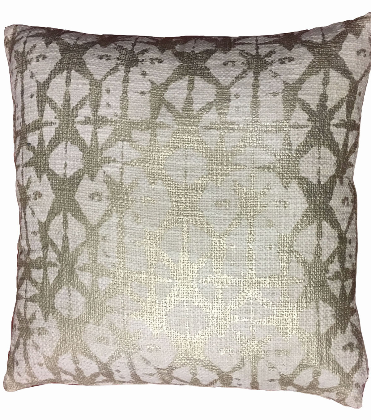 Pattern Printed Pillow-Gold