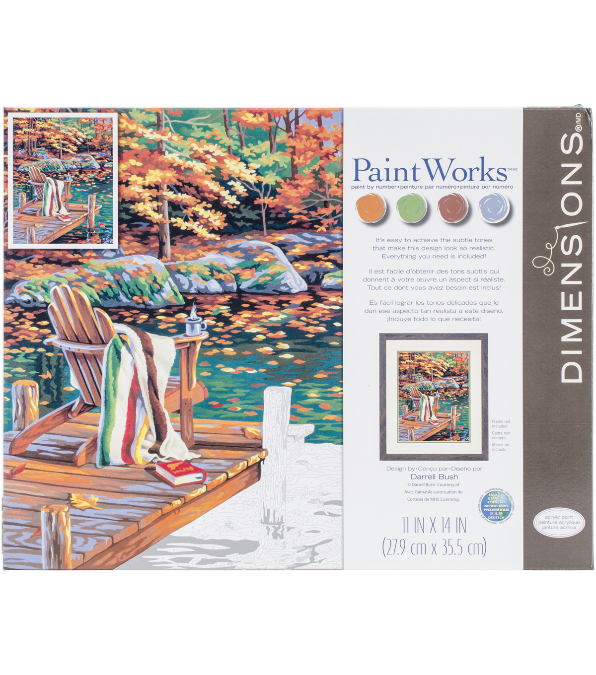 Dimensions Paint By Number Kit 14\u0022X11\u0022-Golden Pond