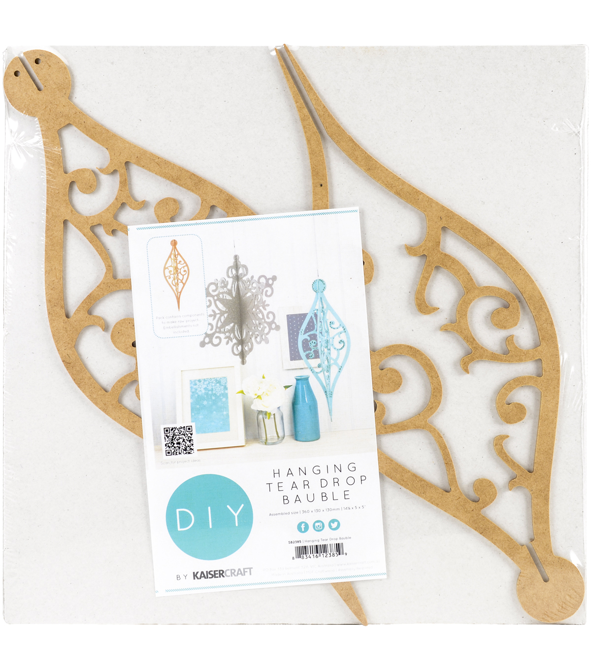 Kaisercraft Beyond The Page MDF Ornament-Tear Drop Bauble