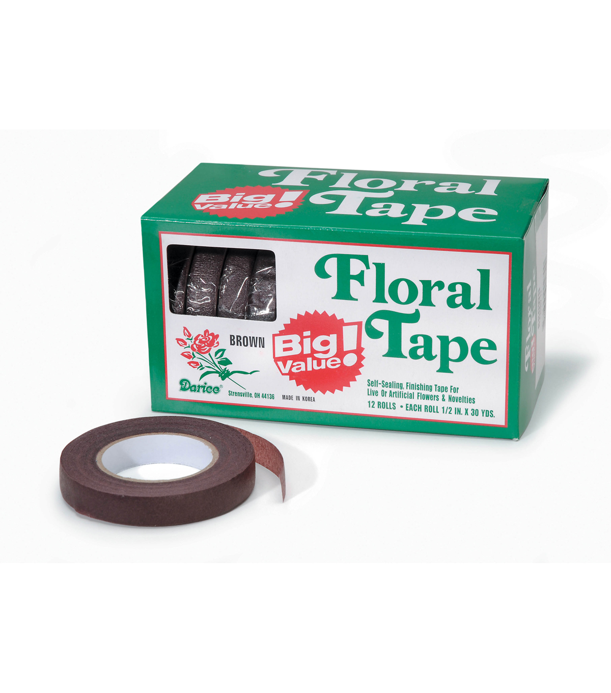 Floral Tape Val Box 12 Rolls/30 Yards Each