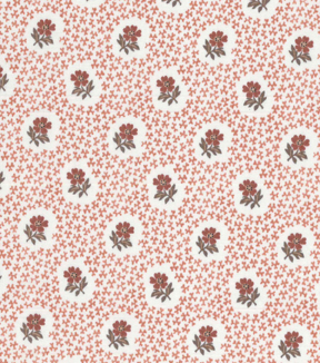 Vintage Cotton Fabric 43\u0027\u0027-Packed Floral Circles