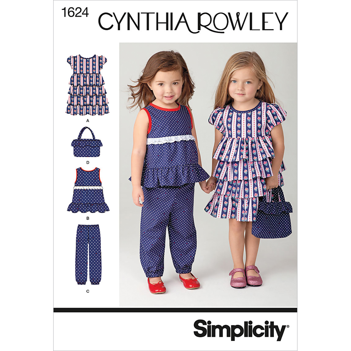 Simplicity Pattern 1624A 1/2-1-2-3--Simplicity Toddlers