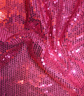 Casa Embellish Spring Stretch Sequin Knit Fabric 51\u0022-Fuchsia