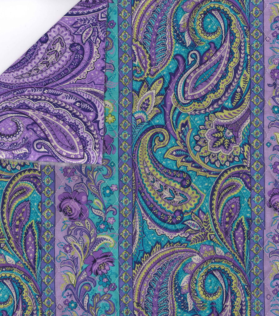 Turquoise purple paisley quilt fabric 42 joann for Paisley fabric