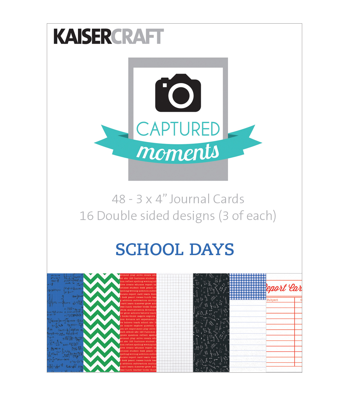 Captured Moments Double-Sided Cards 3\u0022X4\u0022 48/Pkg-School Days