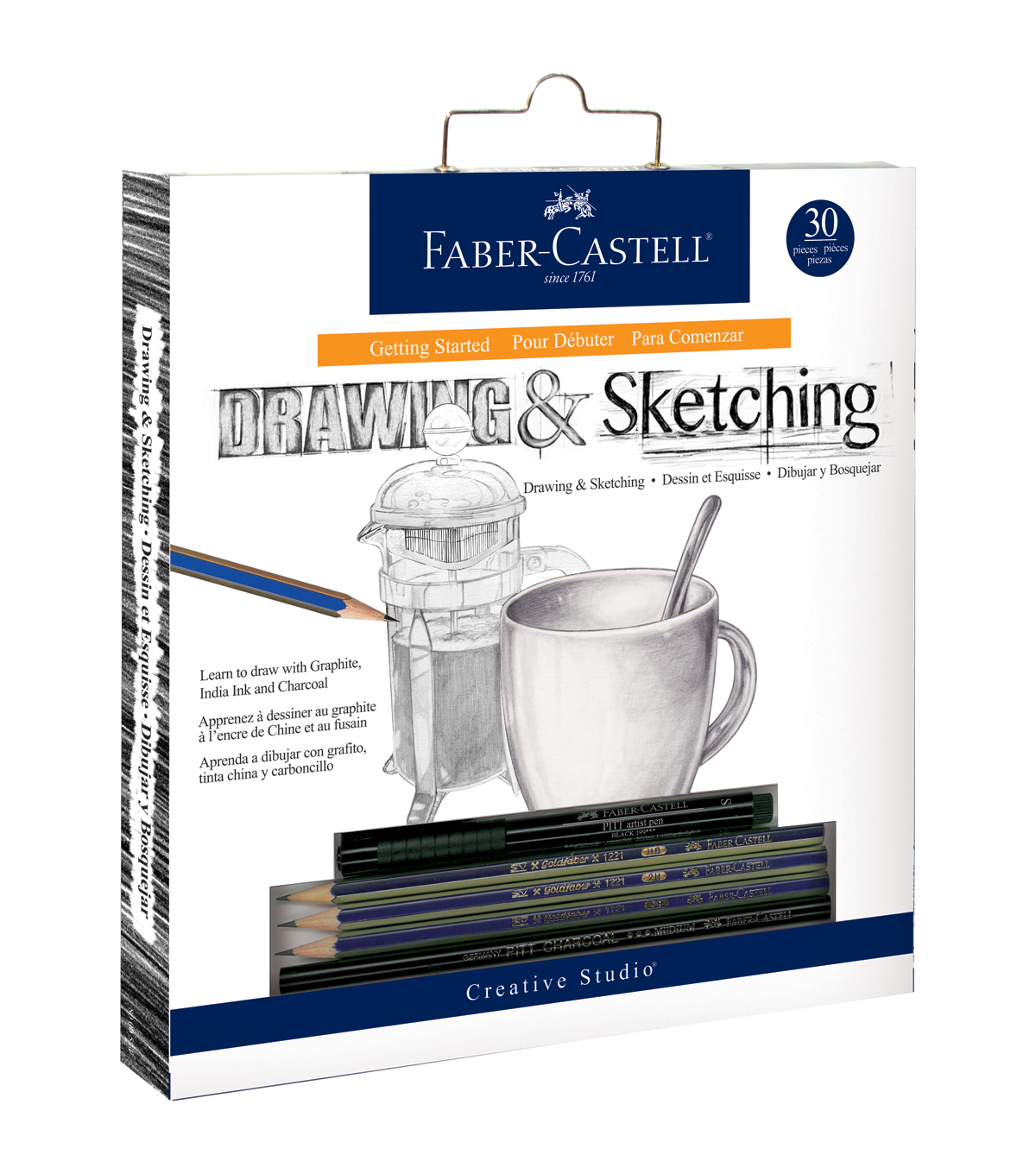 Creative Studio Getting Started Art Kit-Drawing and Sketching