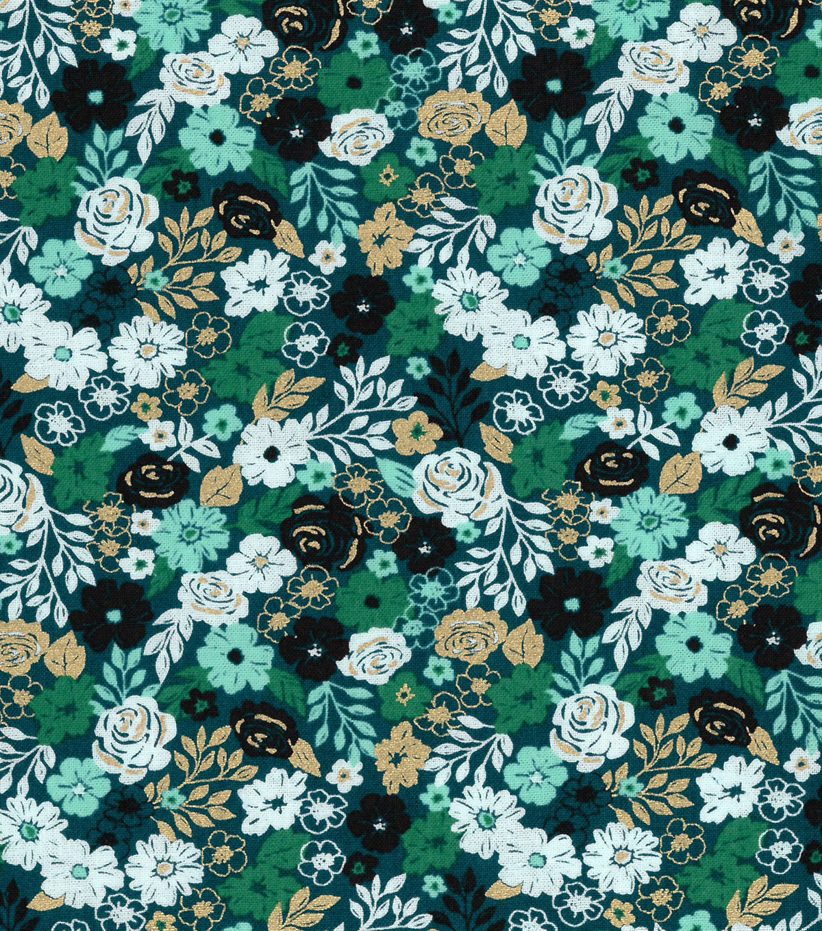 Buttercream™ Stella Cotton Fabric-Ditsy Floral Packed