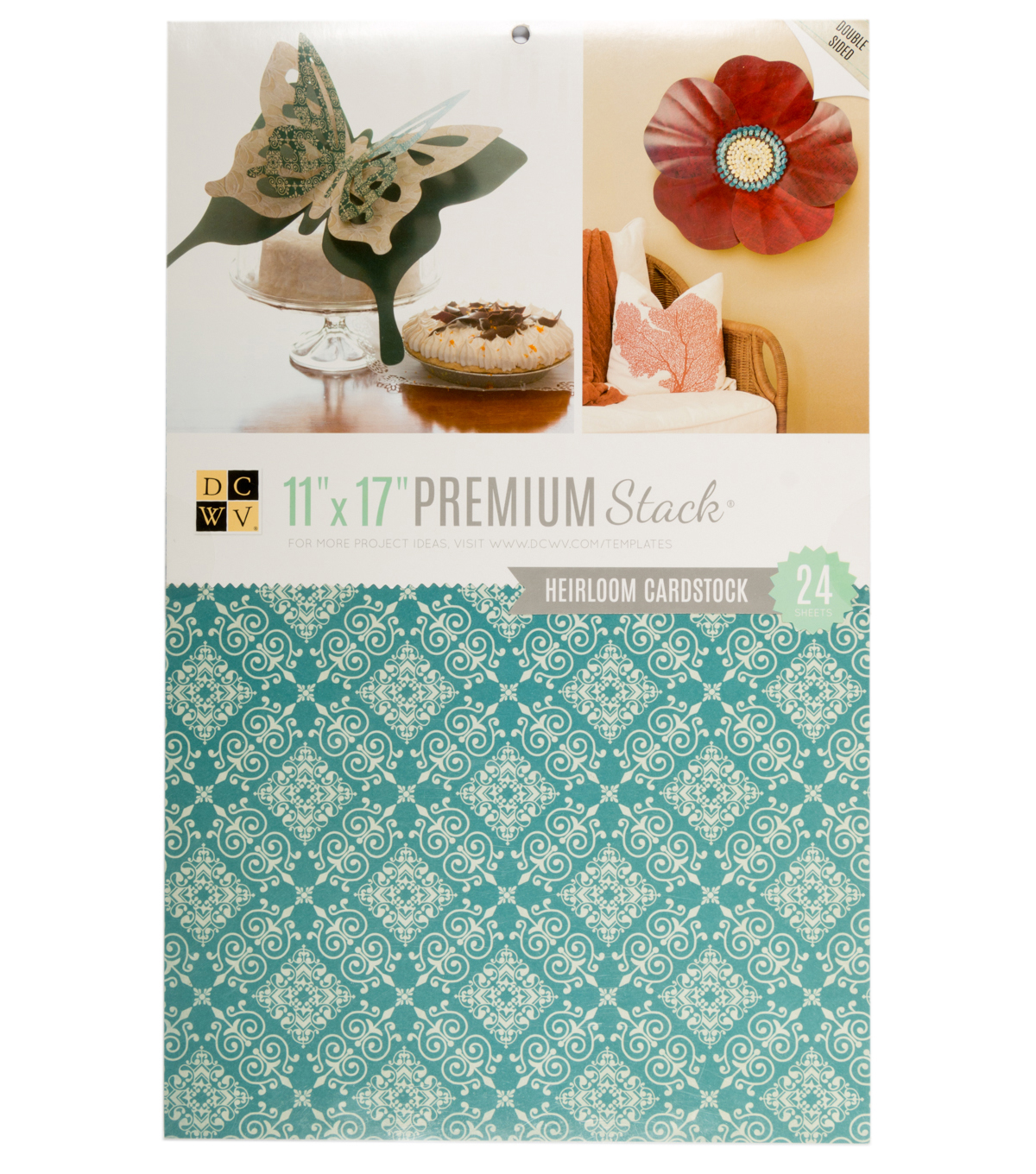 DCWV 11\u0022x17\u0022 Double-sided Printed Cardstock Stack: Heirloom