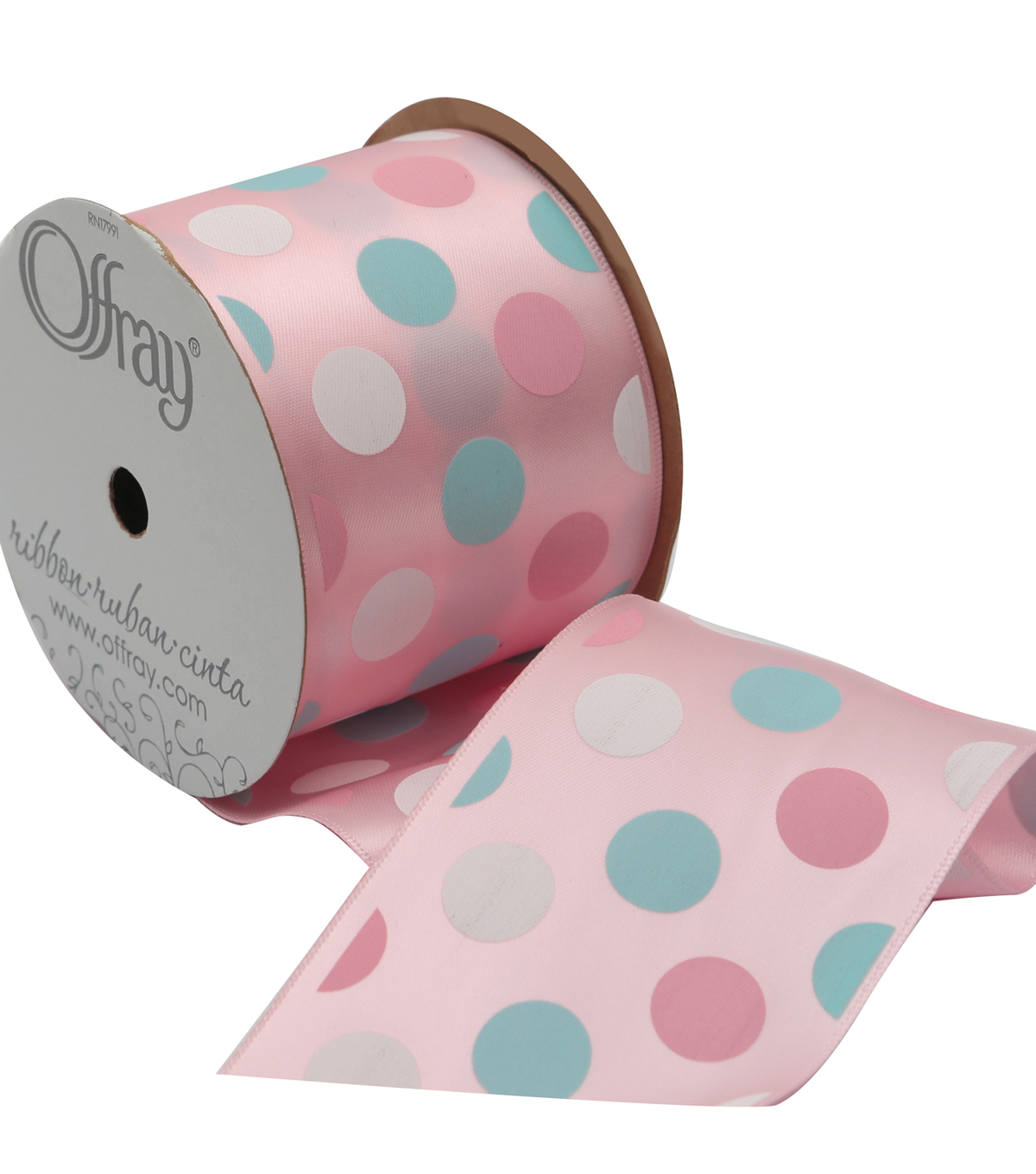 2 And One Qtr Pastel Mystique Dot 2 Ribbon