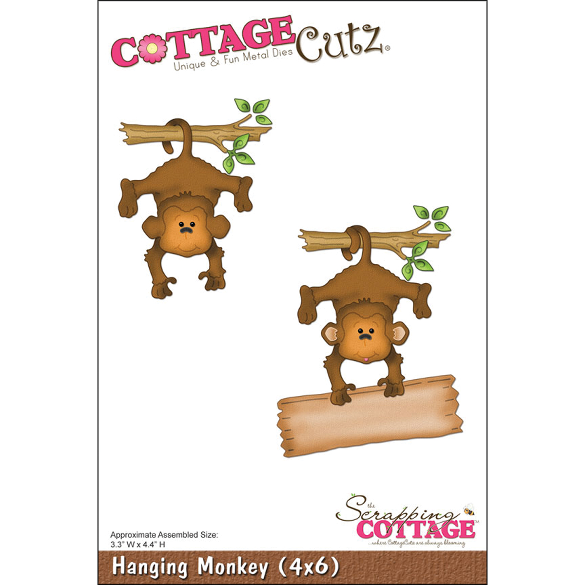 CottageCutz Die Hanging Monkey