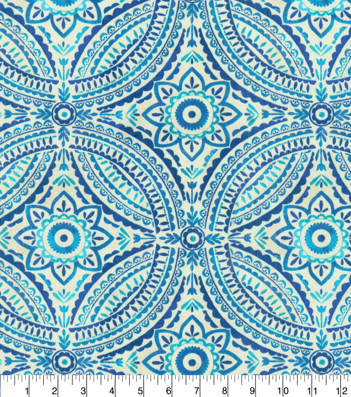 "Kelly Ripa Home Outdoor Fabric 54""-Blissfulness Indigo"