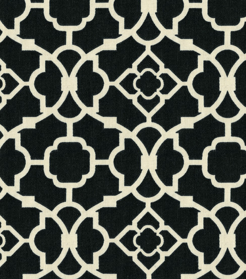 "Home Decor 8""x8"" Fabric Swatch-Lovely Lattice Caviar"