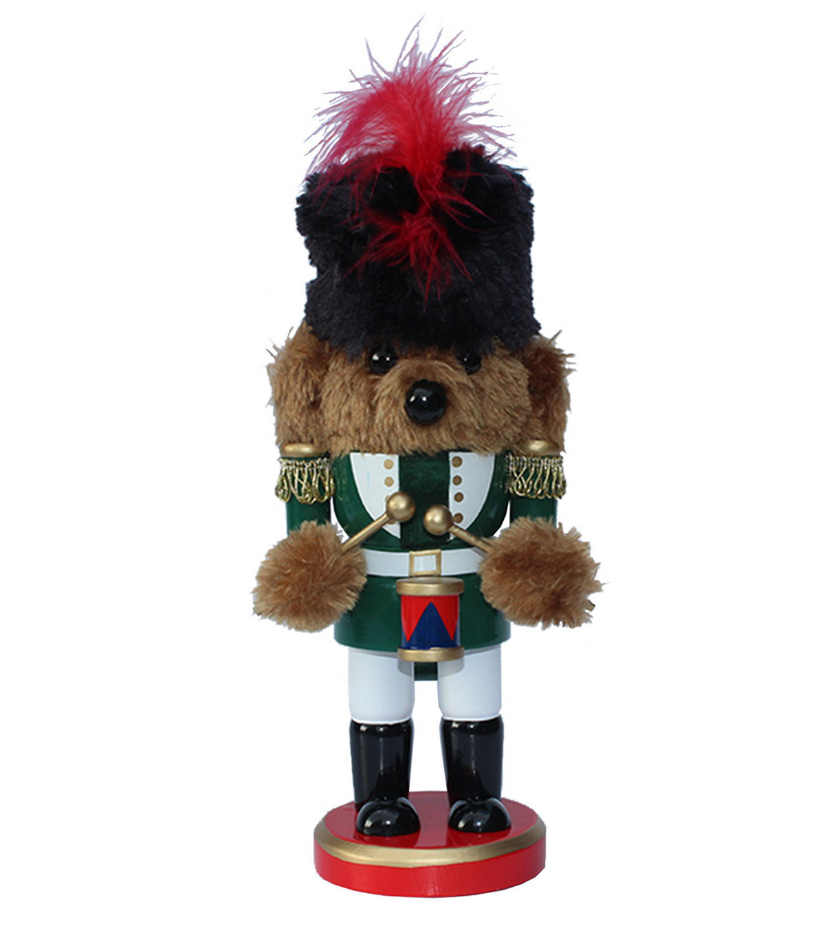 Maker's Holiday 9'' Bear with Drum Nutcracker
