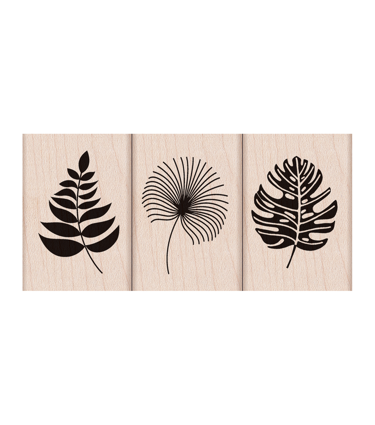 Hero Arts® 3 Pack Wood Mounted Rubber Stamps-Tropical Leaves
