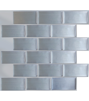 Peel & Impress™ 4pk -Steel Subway