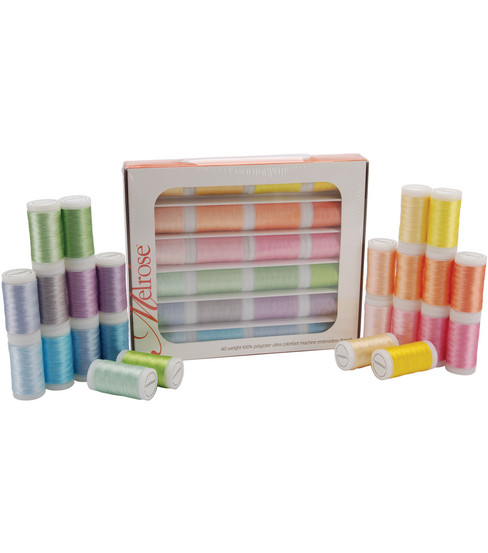 Melrose Trilobal Polyester Thread Assortment 24 Colors-Pastels