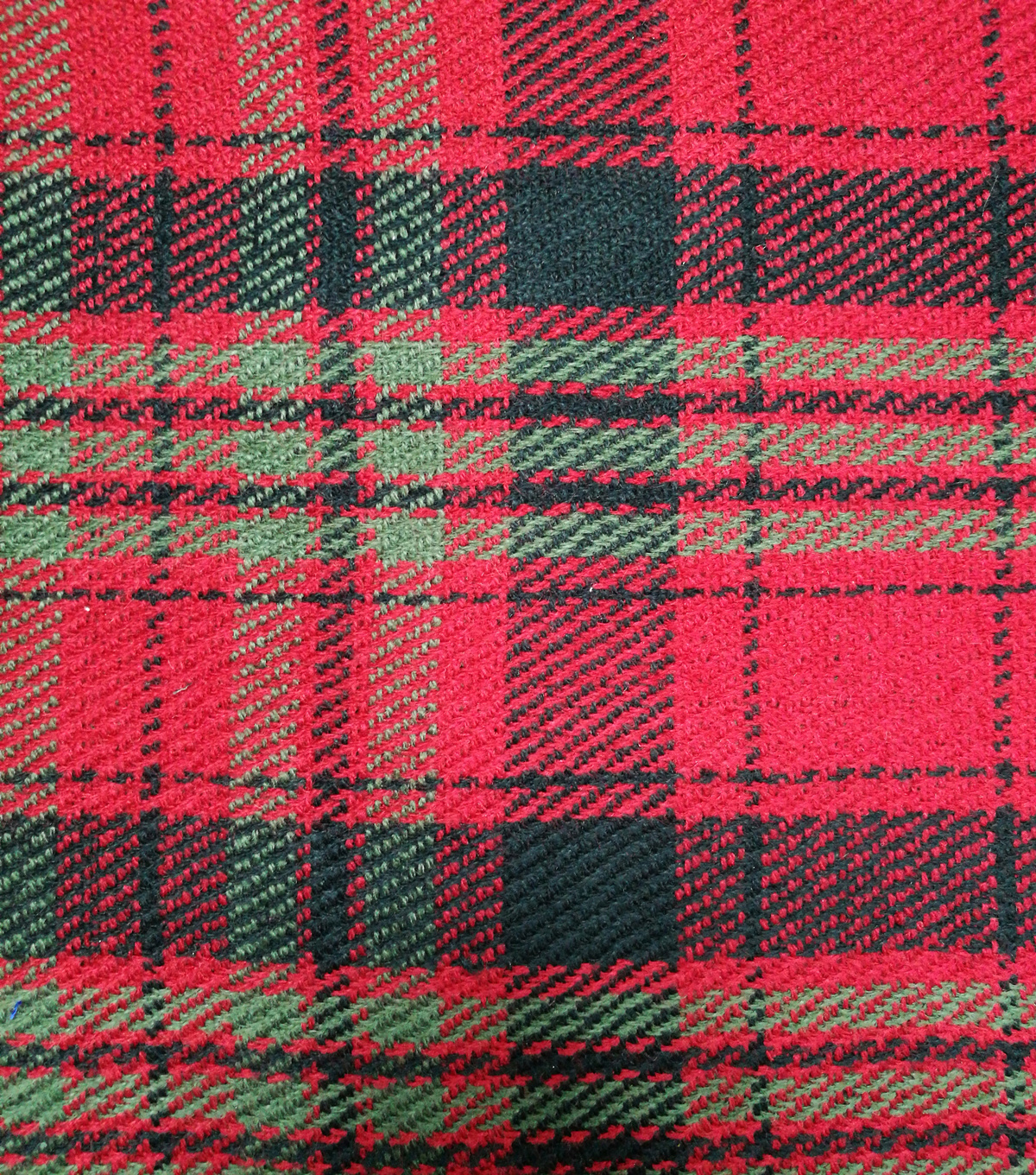 Perfectly Plaid Fabric-Reversible Red Black Olive