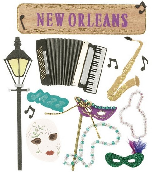Jolee\u0027s Boutique Themed Stickers-New Orleans