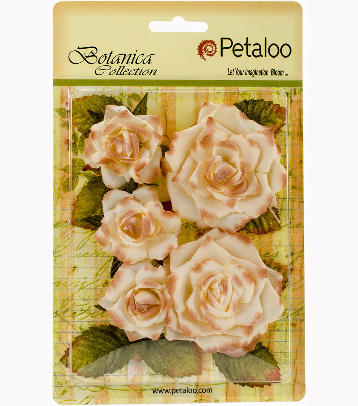 "Botanica Garden Roses 1.5"" To 2.5""-Cream"