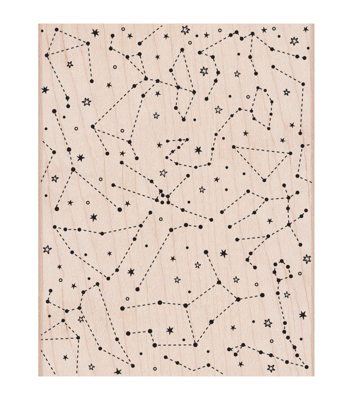 "Hero Arts Mounted Rubber stamps 4.25""X5.5""-Constellation Background"