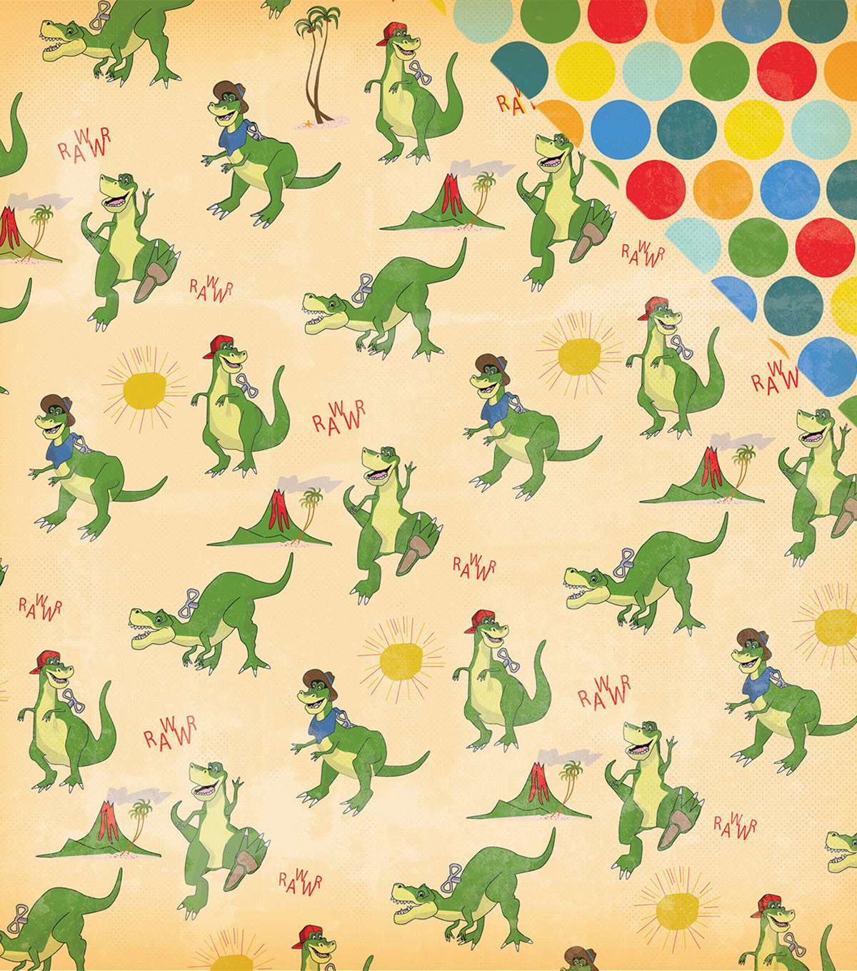"Toy Box Double-Sided Cardstock 12""X12""-Roaring T-Rex"