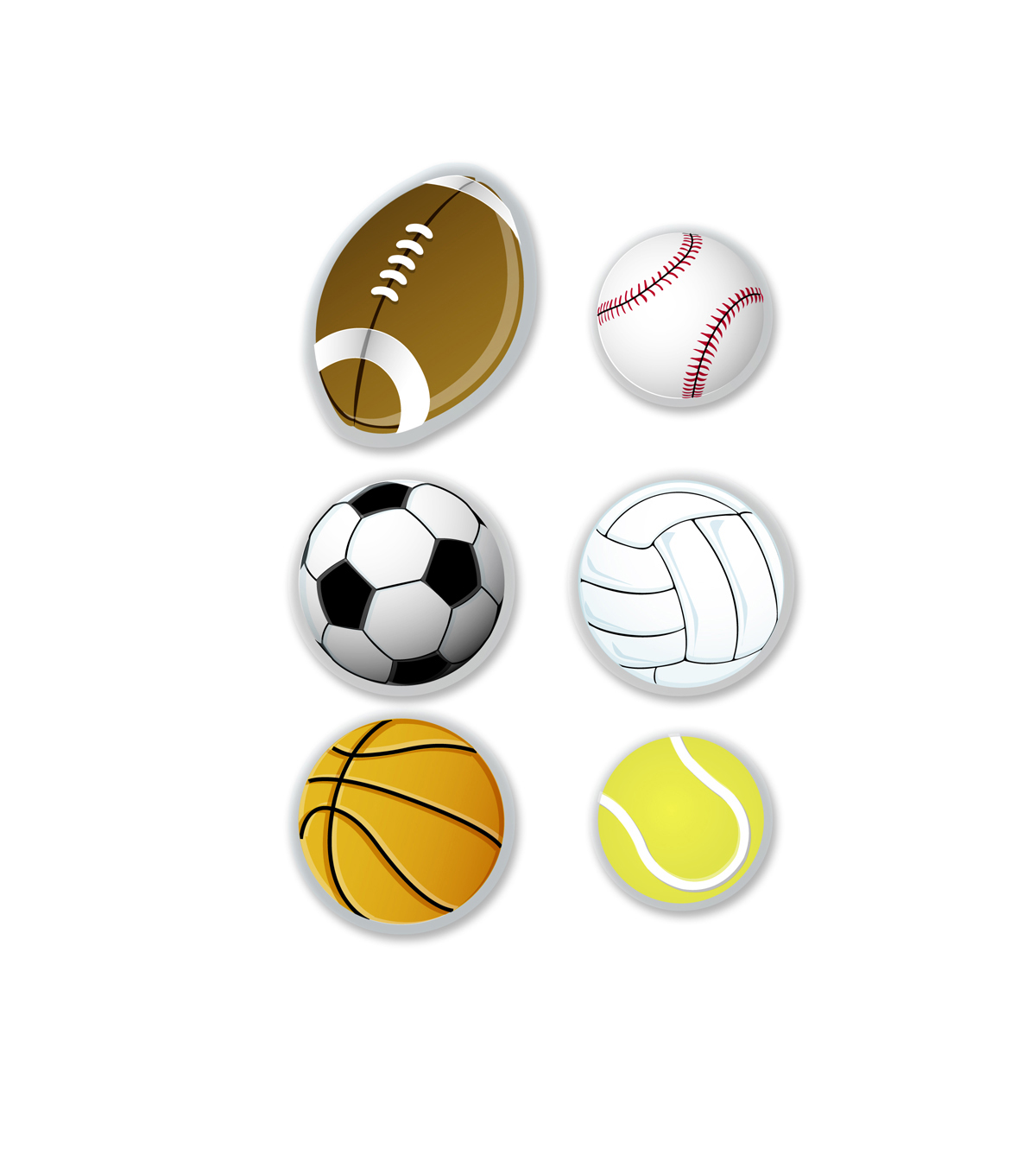 Busy Kids Learning Sticker Packs-Sports Balls