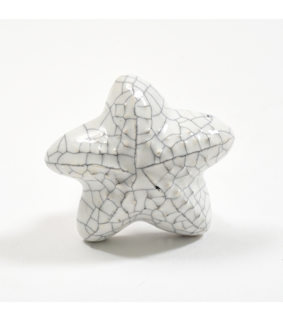 Dritz Home Ceramic Starfish Knob-White