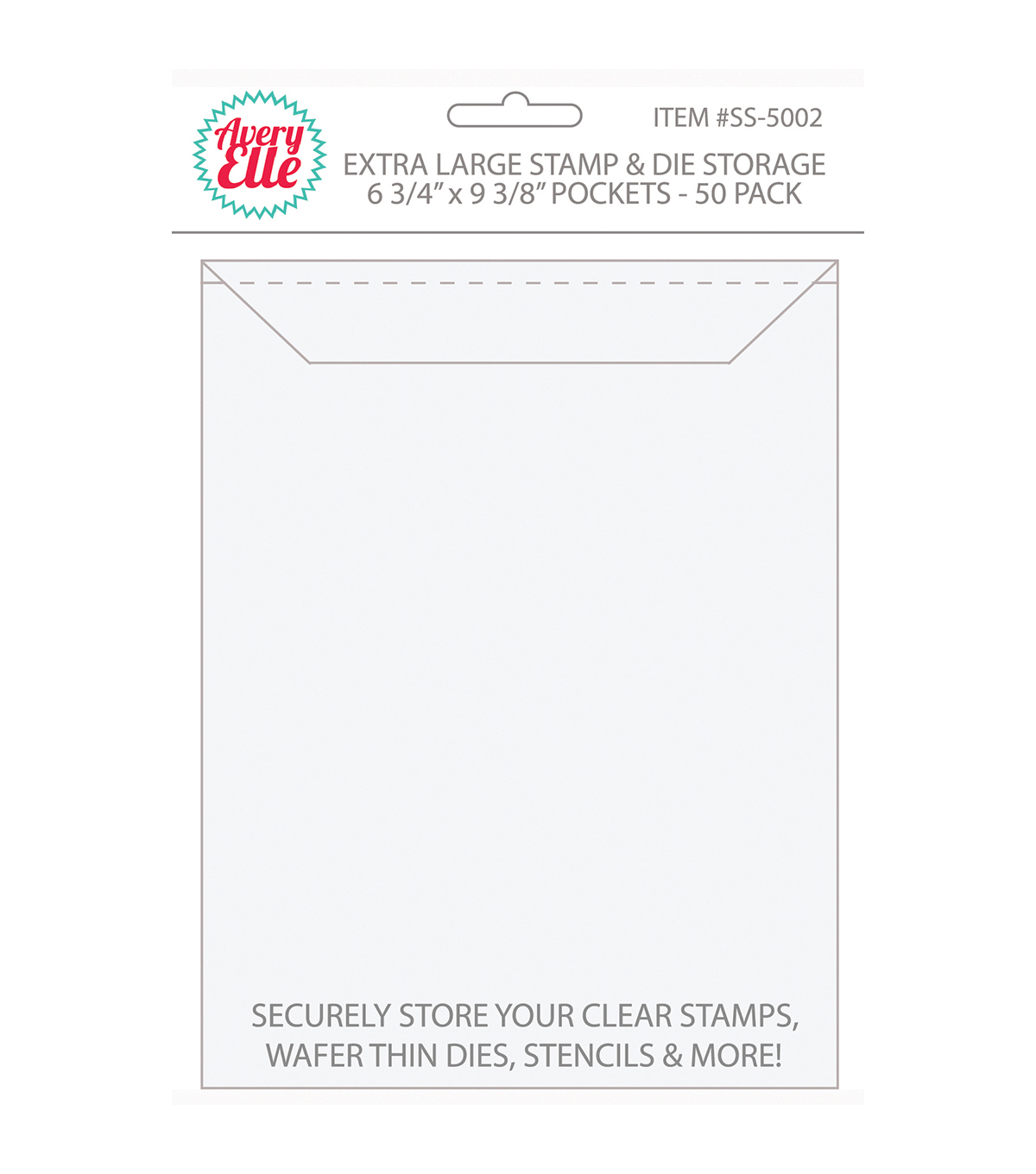 Avery Elle Stame & Die Extra Large Storage Pockets 50 Pack