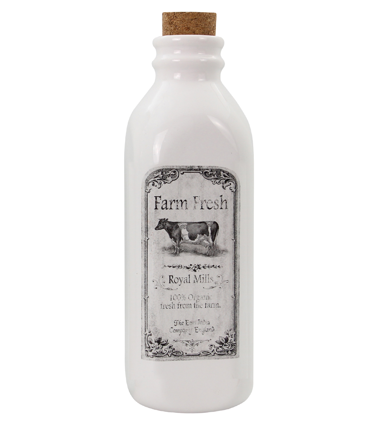 Hudson 43 Farm Ceramic Milk Bottle-Cow
