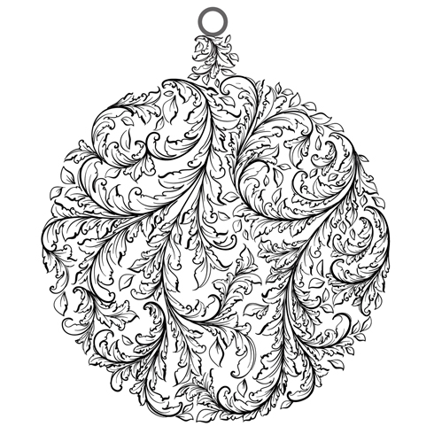 IndigoBlu Cling Mounted Stamp Baroque Bauble
